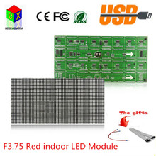 F3.75 P4.75 red led advertising sign module  64X32 pixels size is 304X152mm indoor  led display module