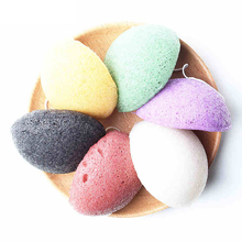 6 Colors Natural Konjac Konnyaku Facial Puff Face Cleanse Washing Sponge Exfoliator Cleansing Sponge Puff Facial Cleanser(China)
