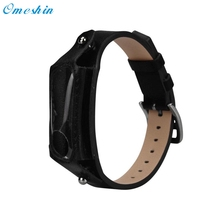 Hot!2017 Popular Replacement Leather Wristband Band Strap For Xiaomi Mi Band 2 Bracelet high quality Drop Shipping Mar25(China)