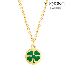 361 Stainless Steel Lucky Pendant Exquisite Clover Necklace(China)