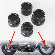 New Black CNC Aluminum RC Front+Rear Axle Cover Cap Nut Kit For Harley Sportster XL 883 1200 Free Shipping