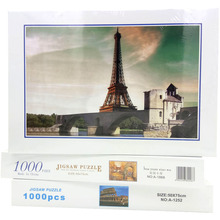 1000pcs DIY Jigsaw Puzzle Eiffel Tower Paper Stickers for Wall Decoration Can Customized