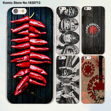 Red Hot Chili Peppers Rock band diseño claro transparente Casos de La Cubierta para Apple iPhone 6 6 s Más 7 7 Plus SE 5 5S 4S 5c