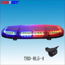 TBD-8L5-4 Super bright LED mini lightbar, police emergency warning light,Car Roof Flash Strobe Magnets light,cigar light switch(China)
