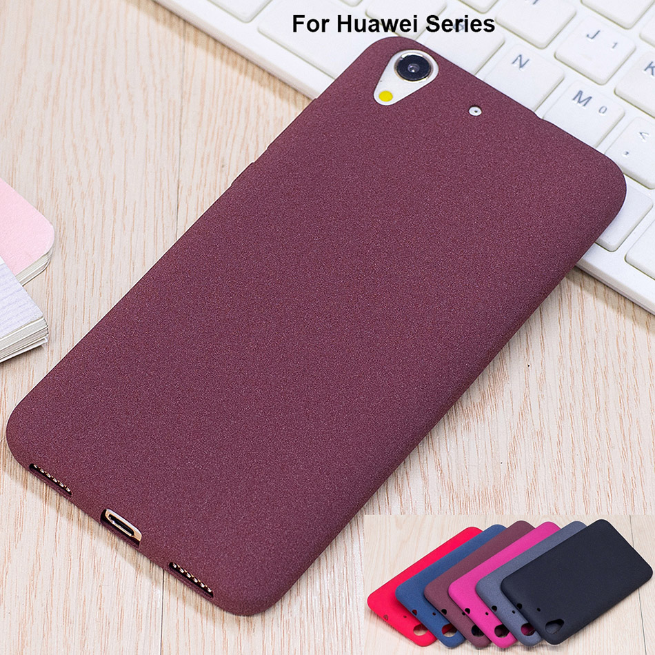 B18 Plush Feel Soft TPU Matte Cover Huawei Honor 7 Note 8 V8 5C 6 PLUS 6X 6C Y6 Pro 2017 Y5 II Y3 2 Enjoy 6S Mate 10 Cases
