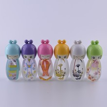 50pcs Hot Sale Mini Edition Baby 20ml Perfume Bottle ,Lovely Egg Doll Painted Empty Glass Perfume Bottles wholesale