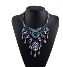 12 pcs/lot Europe and exaggerated jewelry crystal necklace Accessories