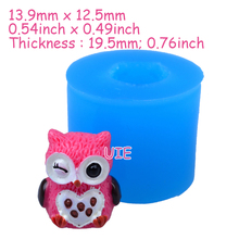 DYL177U 13.9mm Cute 3D Owl Silicone Mold - 3D Animal Mold Jewellery, Miniature Food, Candy, Chocolate, Resin, DIY Handmade Mold