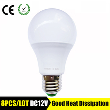 8PCS/LOT LED bulb lamps E27 DC 12V LED lights Lampada LED Smart IC Real Power Led Spotlight bombillas LED 3W 6W 9W 12W 15W white(China)
