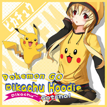 Anime Pokemon Go Hoodie Super Kawaii Pikachu Cotton Sweatshirt Tracksuit Autumn Pullover Female Jumpers Coat Women Sporting Suit