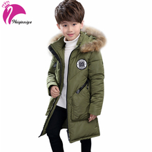 -30 Degree Children's Winter Jackets Down Padded Children Clothing 2017 Big Boys Warm Winter Down Coat Thickening Outerwear(China)