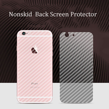 Full cover Durable 3D Anti-fingerprint Carbon Fiber Back Screen Protector Film Back Cover For iphone 7 plus 6 6s plus 5 5s se(China)