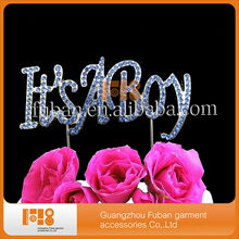 (20pcs/lot)NEW  DESIGN sparkly rhinestone LETTER cake topper for brithday party