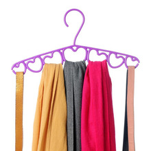 10 Pcs/Lot Colorful Multi-functional Plastic Loving Heart Hanger for Scarf Tops Shirts and Dress(China)