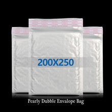 8.2g 20*25cm White Color Shockproof Pearly Bubble Envelope Bag Ebay Amazon Aliexpress Seller Useful Bubble Envelope Storage Bag
