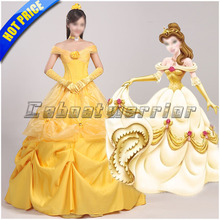 Beauty and the Beast cosplay princess Belle cosplay costume yellow dress for adults Custom made
