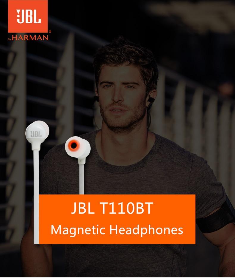 JBL T110 BT Wireless Bluetooth Headphones In-Ear Earphones Sports Magnetic Headphone