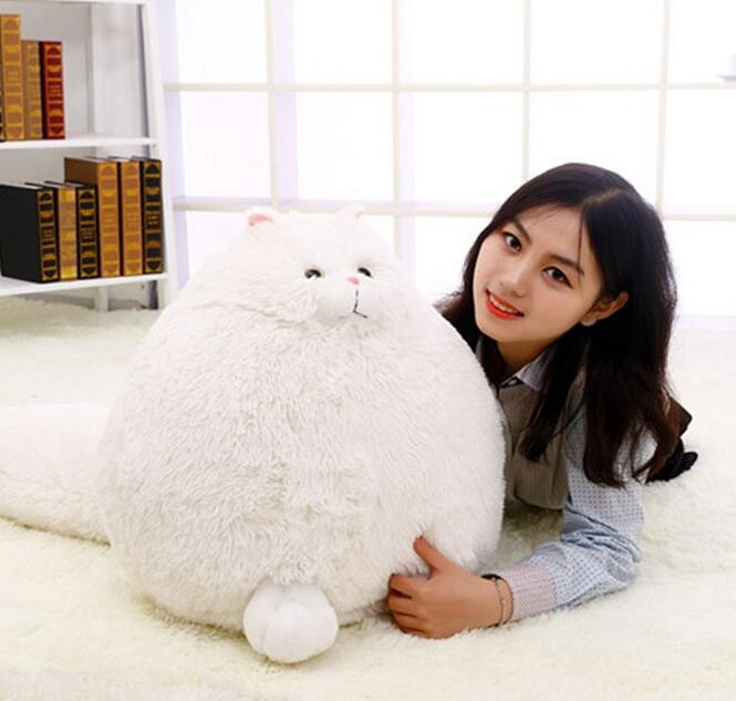 30cm Fluffy Super Soft White Persian Cat With Big Tail Plush Stuffed Kitty Animal Toy Gift For Kids  Pembroke Pillow Plush Toys<br><br>Aliexpress
