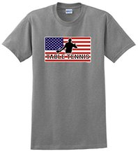 T Shirt Summer Tops Tees Crew Neck New Style Short Sleeve American Pride Table Tenniser Ping Pong  Mens Tee Shirt