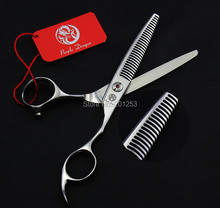 6.0Inch Antlers Teeth Thinning Scissors,Professional Human Hair Thinning Shears for Barber,35% Cutting Rate JP440C,1Pcs LZS0317(China)