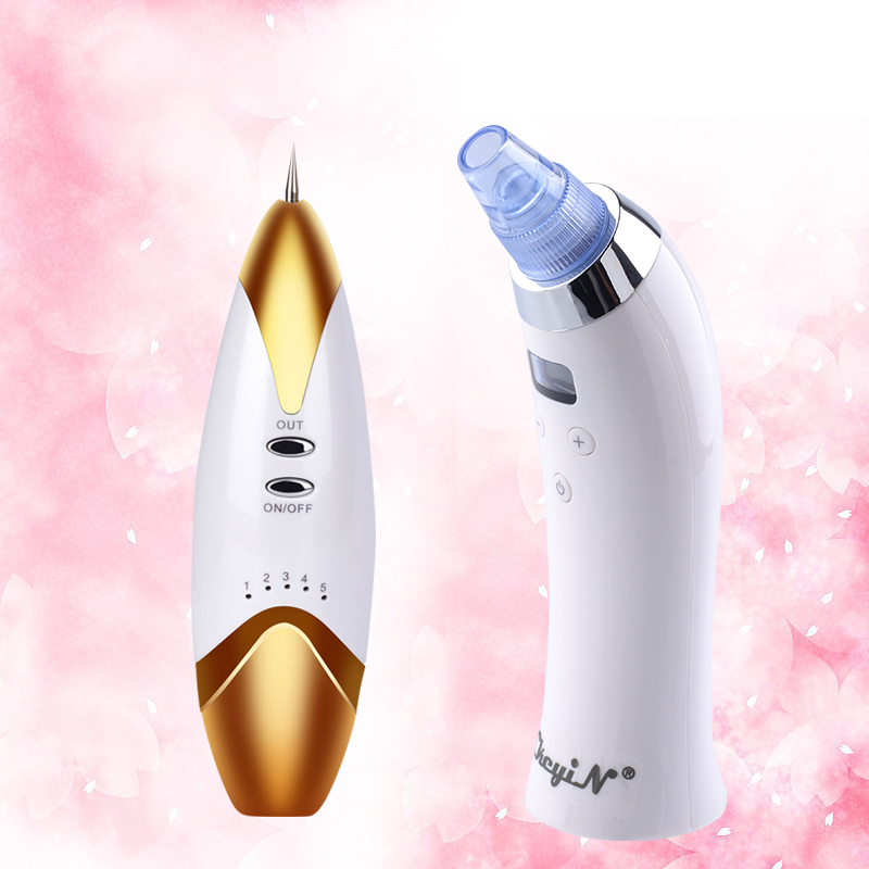 Blackhead Vacuum Cleaner Suction Diamond Dermabrasion Removal Scar Acne Massager+Laser Freckle Removal Machine Skin Mole Removal<br>