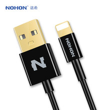 Original NOHON USB Cable For Apple iPhone 7 6 6S Plus 5 5S SE iPad 4 Air 2 iPod Nano Fast Charging Data Sync Cable(China)