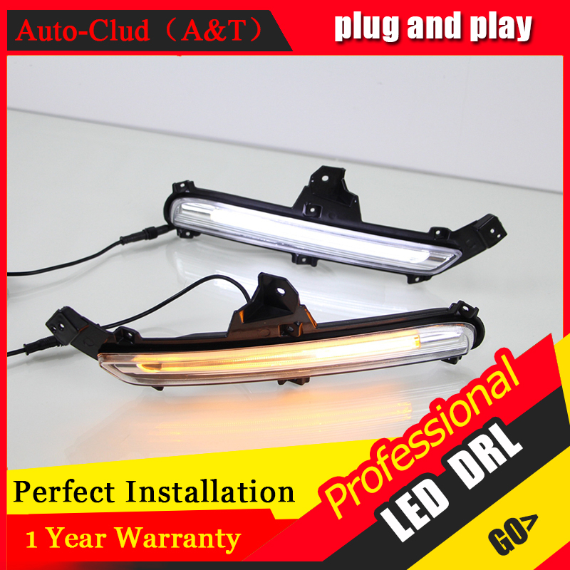 Auto Clud car styling For Kia K2 LED DRL For Kia K2 led fog lamps daytime running light High brightness guide LED DRL<br><br>Aliexpress