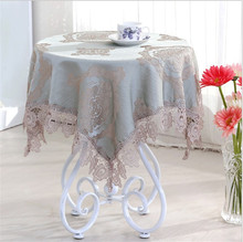 [WIT] 85*85cm Embroidery Table Cloth Banquet Lace Table Clothes The Universal Cover Cloth European Dinning Table Cloth Lace