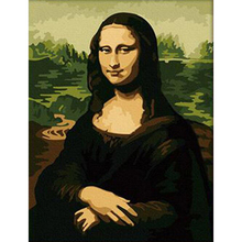 Mona Lisa cuadros decoracion Picture Painting By Numbers Wall Art DIY Digital Canvas Oil Painting Home Decor For Living Room w79(China)