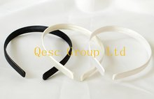 NEW 13mm Satin Headband, for Sinamay Fascinators wedding accessories,black,white,ivory,fuchsia,pink,purple,beige,brown color.