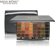 MISS ROSE 1pc Metallic Matte Eye Shadow With Sponge, 48 Colors Eyes Make Up Palette Delicately Wet Eyeshadows Cosmetic Kit A91