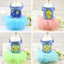 Dog Summer Vest Hoodies Dog Costumes Apparel Wear Puppy Cotton T-shirt Dog Dress Skirt Princess Tutu Dress 1PC(China)
