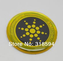2017 new arrival 100pcs/lot Free Shipping golden  Anti Radiation Anti Science Energy Sticker For Cell Phone