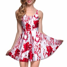 Drop Ship Fashion Women Dress A-line Digital Print WHAT A MESS REVERSIBLE SKATER DRESS vestidos mujer tallas grandes(China)