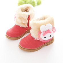 High Quality 2017 new winter children boots baby shoes girls warm shoes 3 colors 21-30 free shipping(China)