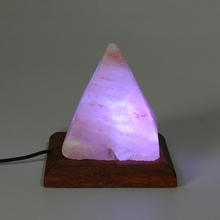 Pyramid Crystal Rock Salt Lamp Table Lamp Night Light Bedroom Adornment For Home Room Decoration Crafts Ornaments Gift