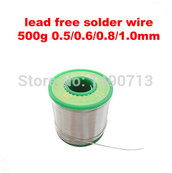 low melting point Lead Free Solder Wire 500g 0.5MM / 0.6MM / 0.8MM /1.0MM for choice, Sn99.3/Cu0.7<br>