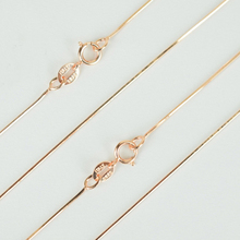 Pure 925 Sterling Silver & Rose Gold Color Slim Thin Snake Chain Necklace for Pendant 40/45cm Womens Girls Kids Jewelry Bijoux(China)