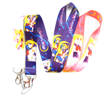 Wholesale Mix 50 pcs  Sailor Moon  mobile Phone lanyard Keychain straps charms  P-O24