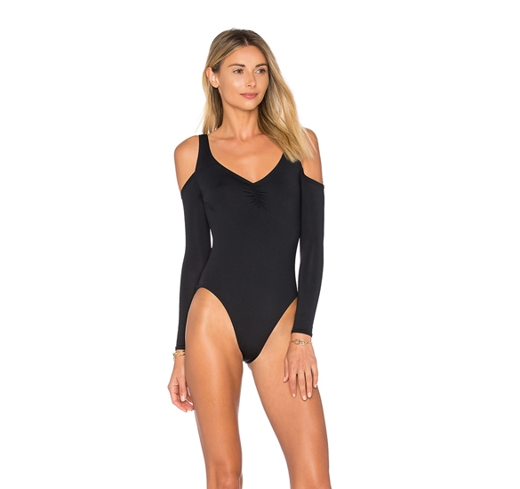 2018 New Solid One Piece Swimsuit  Long Sleeve Swimwear Sexy Women Bathing Suit Retro Swimsuit  One-piece Surfing Swim Suits<br>