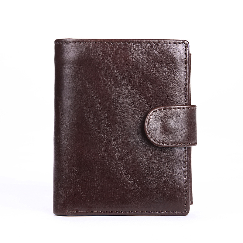 The new oil wax leather wallet large capacity wallet mens leather wallet short wallet zero<br><br>Aliexpress