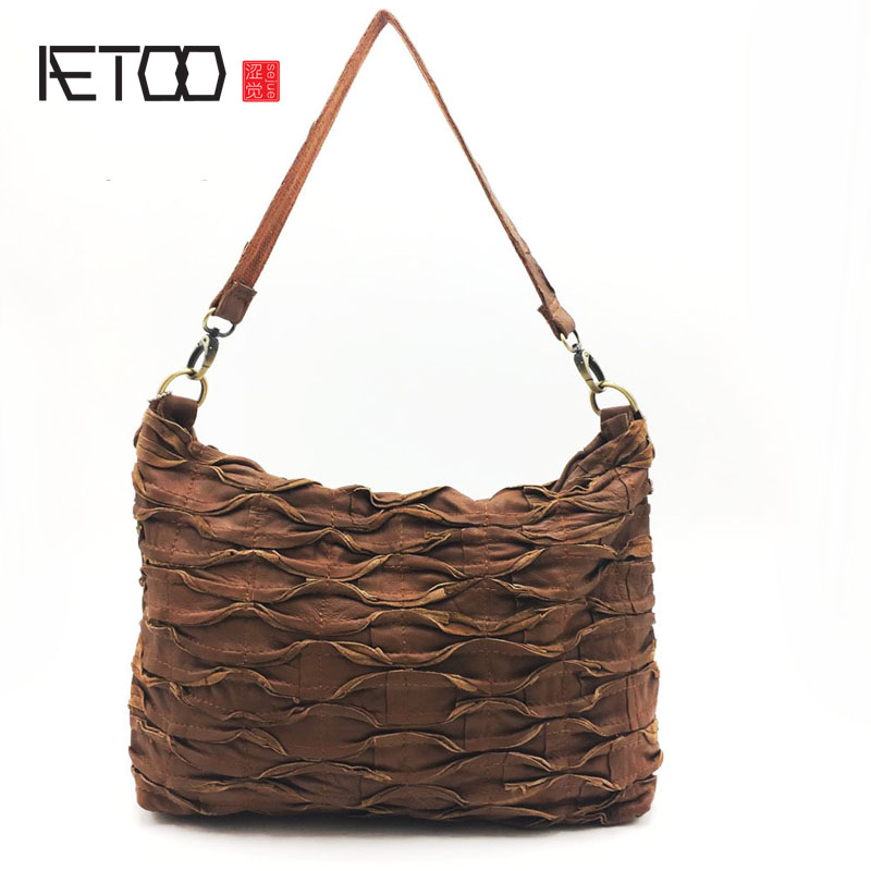 AETOO Leather handbags The single shoulder bag color assorted European and American women bag<br>