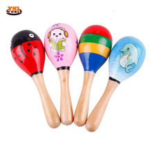 Buy YKLWorld 3PCS/lot High Wooden Maraca Rattles Kid Musical Instrument Party Educational Child Baby Shaker Toy Gift -48 for $4.71 in AliExpress store