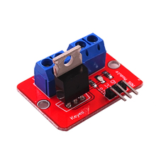 10pcs/lot 0-24VTop Mosfet Button IRF520 MOS Driver Module For Arduino MCU ARM Raspberry pie(China)