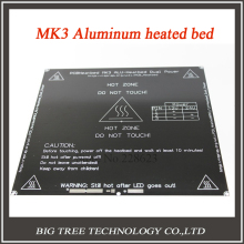 Free shipping black MK3 heatbed latest Aluminum heated bed dual power 3D printer parts RepRap 214*214mm diameter like MK2B