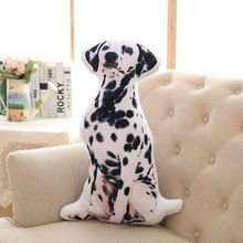 3D Dimensional pillow simulation Dalmatian plush toy 60x35cm soft throw pillow,sofa cushion birthday present Xmas gift c1023(China)
