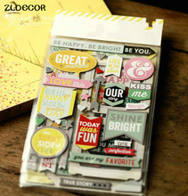 ZLDECOR Be Happy Die Cut Self-adhesive Stickers for Scrapbooking Happy Planner/Card Making/Journaling Project(China)