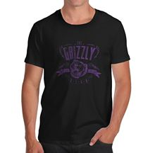 Funny Shirts Crew Neck Short-Sleeve Gift The Grizzly Bear Funny Black Small Shirts For Men