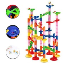 105Pcs/Set Race Game Run Plastic Maze Balls Track House Building Block Toys New(China)