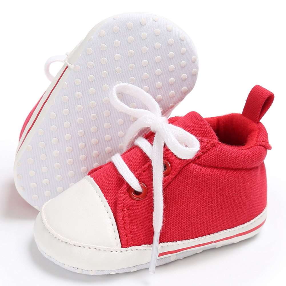 Spring Summer Newborn Canvas Shoes Sneaker Fashion 0-18 Month Baby Girls Boys Solid Soft Sole Shoes Prewalker First Walkers 13